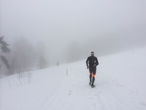 Visibility was pretty low (even worse high up) and the compacted snow was hell on the legs