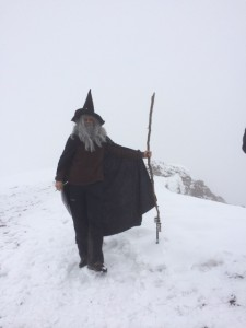 Gandalf at the summit. Don't ask me why. I was too knackered to speak, never mind ask a question in French