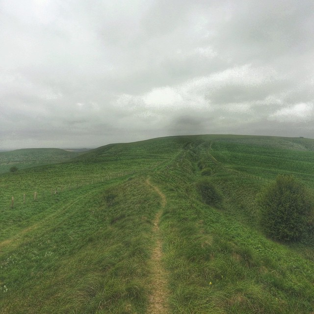The trail opened up into open countryside as we climbed higher up onto the downs.