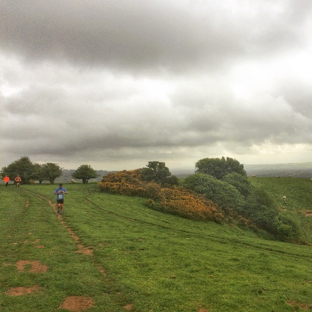 The rest of the field close behind me as we climbed up onto Pewsey Downs