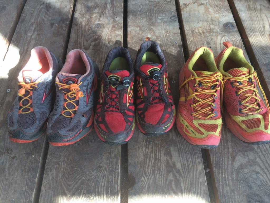 My history of Brooks Cascadias - still going strong after 1000 miles of off-road running